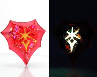 FFXIV Glow in the Dark Soul Crystal/DRK Job Stone Final Fantasy XIV Soul of the Dark Knight Keychain/Necklace FF14