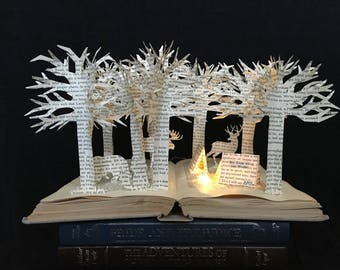 Forest Camping Book Sculpture