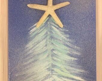 Starfish Christmas canvas