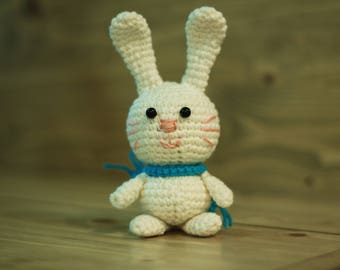 Crocheted bunny Amigurumi bunny Stuffed toy bunny Plusht oy bunny Crochet rabbit Stuffed forest animal Crochet animal Bunny custom toy bunny