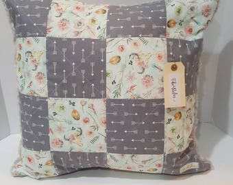 Gray and blue Throw Pillow