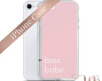 Pink Boss Babe Phone Case | Boss Babe Phone Cover | Girl Boss | Lady Boss | Entrepreneur Gifts | LipSense Phone Case | SeneGence Phone Case