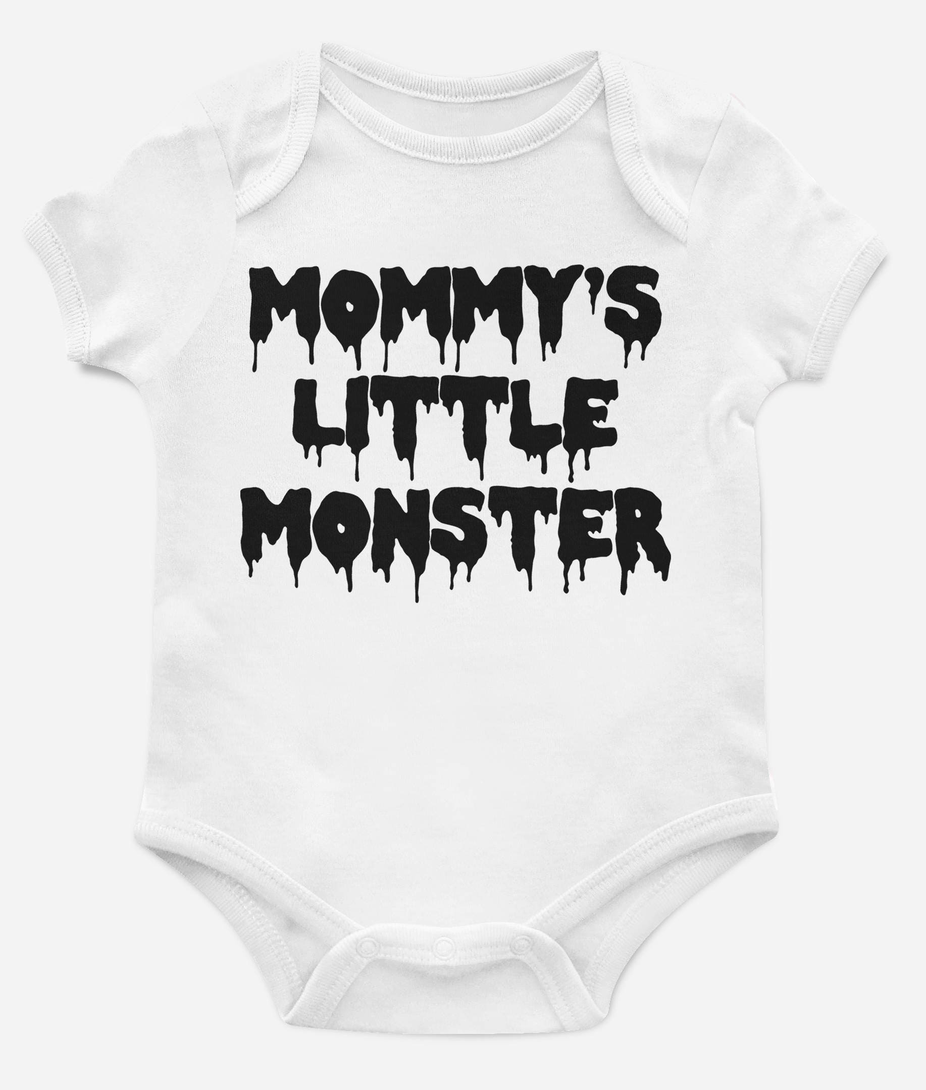 4a49c040b Mommy s Little Monster Halloween Onesie for Baby Fall Outfit Horror ...