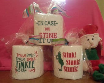 Holiday Toilet Paper gag gift! Dirty Santa!