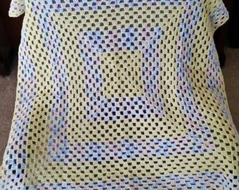 A neutral baby blanket