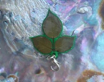 Rosebush leaves preserved charm