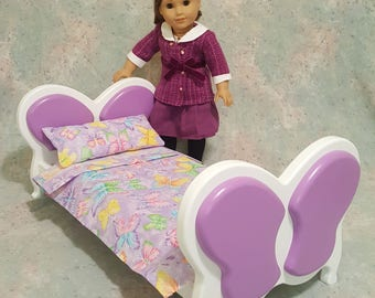 American Girl Doll Bed Furniture - Butterfly Design