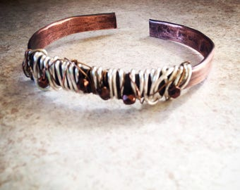 Rustic copper bangle