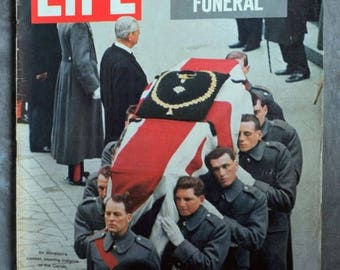 Summer Sale Life Magazine February 5, 1965 Churchill's Funeral