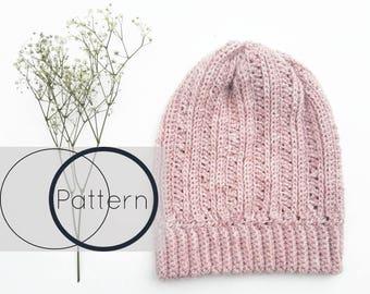 Crochet Hat Pattern/ Easy Crochet Beanie Pattern/Beginner Toque Crochet Pattern/Slouchy Crochet Hat /The Primrose Beanie