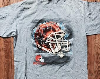 Vintage Lightening Cleveland Browns T-Shirt   '90s