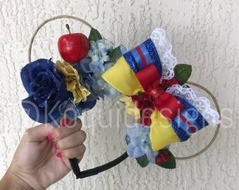 Snow White Wire Ears, Snow White Ears, Snow White Mickey Ears, Snow White Minnie Ears, mickey ears, Minnie Ears, disney ears