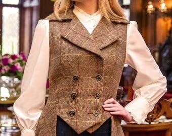Lady Mary Waistcoat in Bonnington Tweed