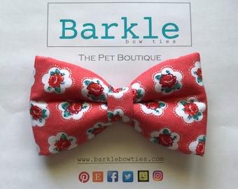 Flower Dog Bow Tie