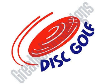 Disc Golf SVG - HTV - Vinyl Cutting Graphic Art