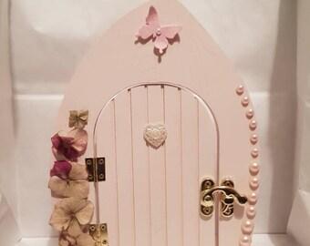 Fairy Door, Pink Fairy Door, Handmade Fairy Door, wooden fairy door