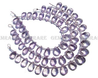 Pink Amethyst Faceted Pear beads, Quality AAA, 6.50x9.50 to 8.50x11.50 mm, 18 cm, 19 pieces, AMETHY*-093/1, Semiprecious gemstone beads