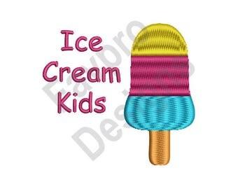 Ice Cream Kids - Machine Embroidery Design