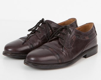 Vintage Brown Leather Oxford Style Shoes/ Size UK 6.5