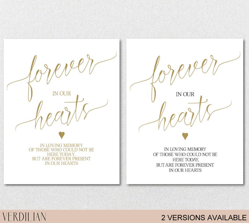 forever in our hearts sign, in loving memory sign, memorial table, Powerpoint templates