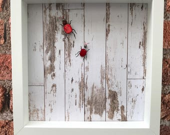 Jewelled insect, bug, original art, craft, 3d art