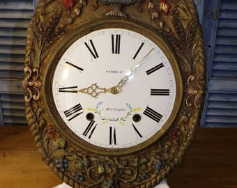 Antique French Comtoise Clock c1850 working order