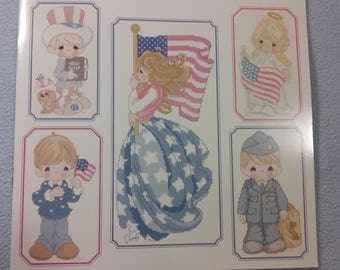 New Cross Stitch Pattern - Sweet Land of Liberty by Precious Moments