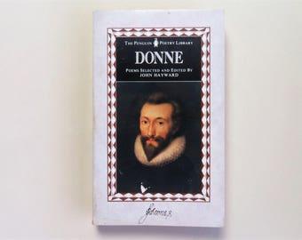 John Donne - Poems - Penguin Poetry Library - John Hayward - Penguin paperback book - second hand books