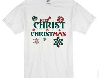 Iron on Merry Christmas T-shirt