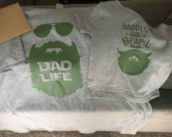 Father and Son Matching Beard Shirts (Child)