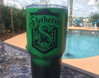 Slytherin yeti tumbler