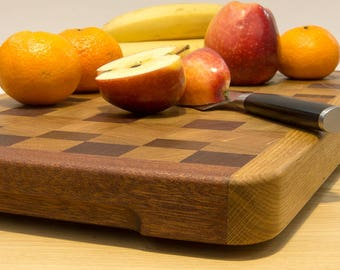 Large cutting board made of Stirnholz/grain