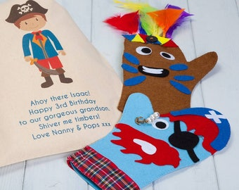 Personalised Pirate And Indian Hand Puppet Craft Kit