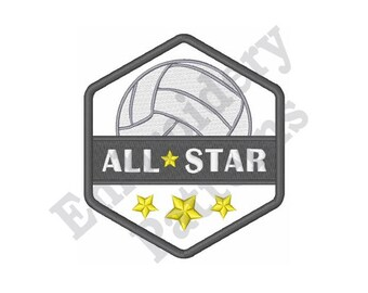 Volleyball All Star - Machine Embroidery Design