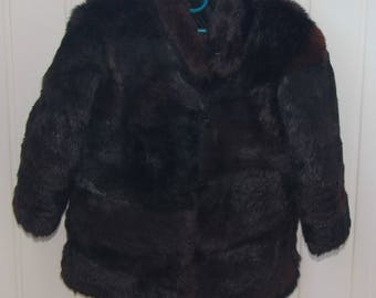 Vintage kids coat Kids fur coat Girls winter coat Kids rabbit coat Rabbit fur coat Vintage fur coat kids Genuine fur coat Rabbit coat