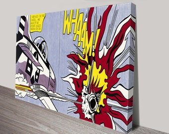 ROY  LICHTENSTEIN -  WHAMM! Reproduction on Museum Canvas or ArchivalPaper310m