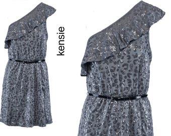 Silver Metalic One Shoulder Dress (50% Off)