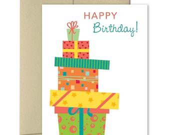 Birthday cards - Cute birthday card - Greeting Cards Birthday - Birthday card for friend - Birthday gifts - Presents - Happy Birthday