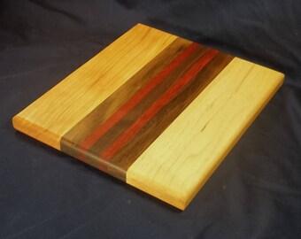 Exotic wood long grain cutting board