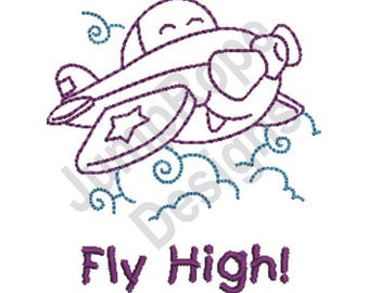 Fly High - Machine Embroidery Design