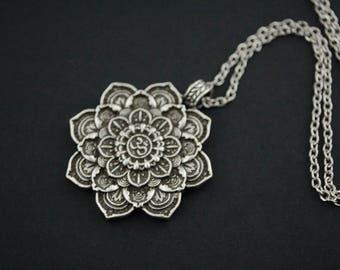 Tibetan mandala Pendant Necklace