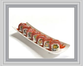 Charming Sushi Print, Sushi Art, Food Prints, Kitchen Wall Art, Kitchen Print,