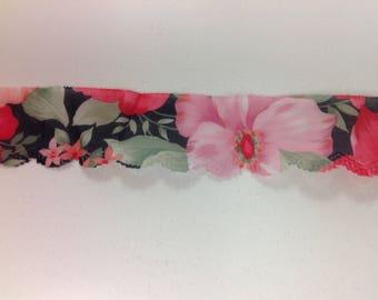 "2"" flower print ribbon"