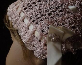 Pink Crochet Bonnet