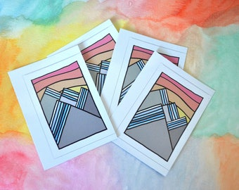 Striped Mountains Sticker