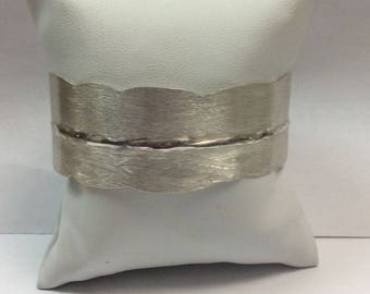 Barbed Wire Sterling Silver Handmade One of a Kind Cuff Bracelet