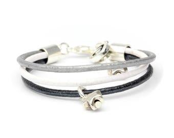 Starlet bracelet gray and black