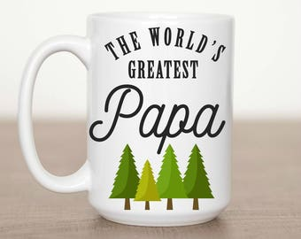 15 oz The World's Greatest Papa Mug