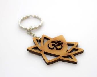 Wooden long keychain loto - Wooden jewelry