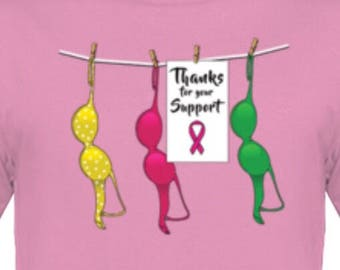 Thanks For Your Support breast cancer Awareness T-Shirt